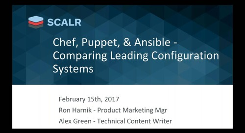 Chef vs. Puppet vs. Ansible