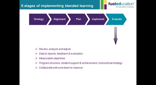 5 Steps to Blended Learning Success: Step 5, Evaluate