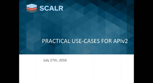 Practical use cases for Scalr API V2