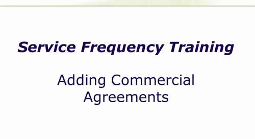 Adding Commercial Agreements