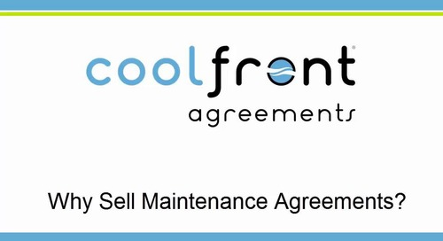 Why Should You Sell Maintenance Agreements?
