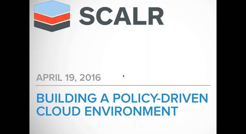 Building a Policy Driven Cloud Environment