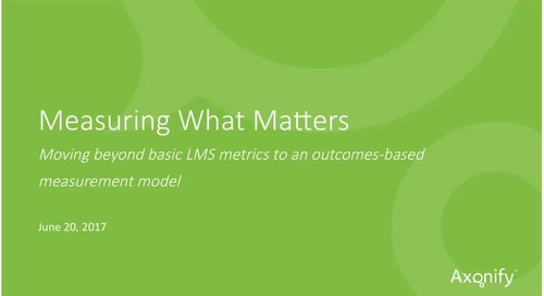 Webinar: Measuring What Matters