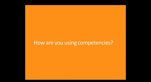 Archived Webinar: Why I Chose Competencies