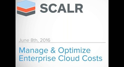 MANAGE & OPTIMIZE ENTERPRISE CLOUD COSTS ACROSS MULTIPLE PLATFORMS