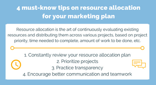 4 must-know tips on resource allocation for your marketing plan
