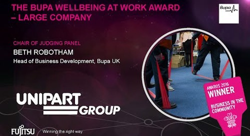 The Bupa Wellbeing at Work Award - Unipart - Judges Comments