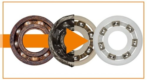 Plastic ball bearings