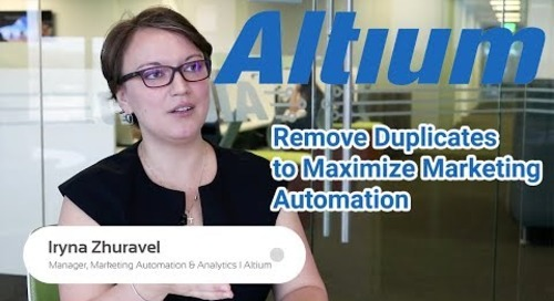 Altium Limited: Remove Duplicate Records to Boost Marketing Automation (Marketo)