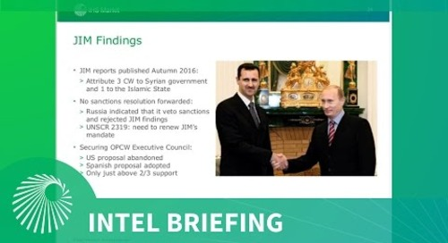 Intel Briefing - Chemical Weapons use in Syria and Iraq: Analysis and Trends of CW accusations