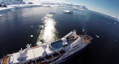 Ocean Diamond: Aerial view from a Drone