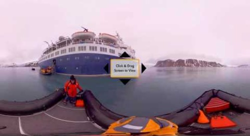 Take a Zodiac Cruising Adventure in Spitsbergen in 360° VR