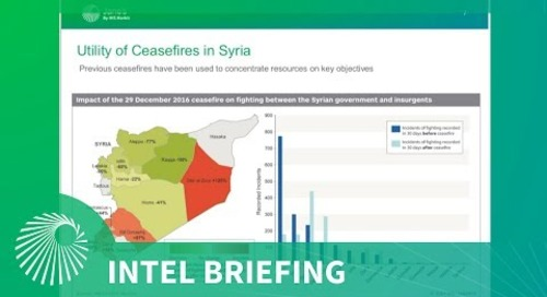 Intel Briefing: Prospects for peace - A Data driven analysis of Syria and Iraq
