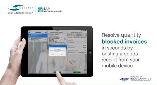 Speed Procure-to-Pay Approvals and Exceptions with Dolphin's Mobile Approvals App for SAP systems