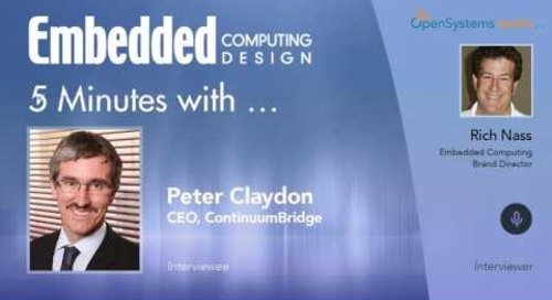 Five Minutes With…Peter Claydon, CEO, ContinuumBridge