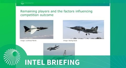 Intel Briefing: The Jet trainer market - Assessment of the USAF T-X competition