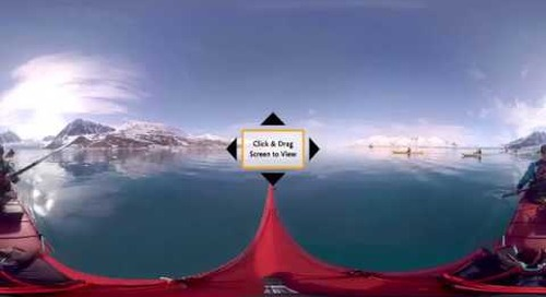 See Spitsbergen Life from the Surface of Pristine Waters on a 360° VR Kayak