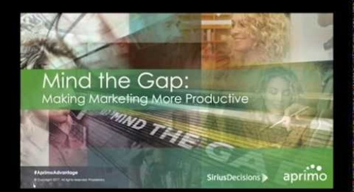 On-Demand Webinar: Mind the Gap – Making Marketing More Productive