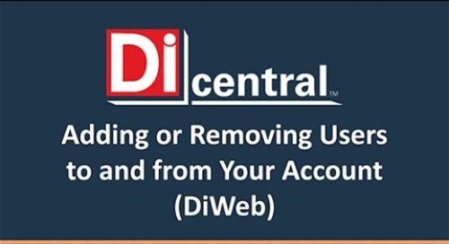 How to Add and Remove Users from Your DiCentral Account (DiWeb)
