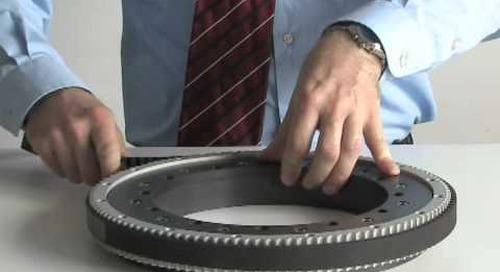 Geared slewing rings