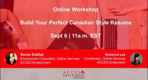 Build Your Perfect Canadian Style Resume