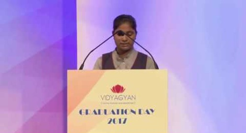 VidyaGyan Graduation Day 2017 | Swati