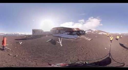 Historian Damien Sanders talks whaling history at Deception Island, Antarctica (360° VR)