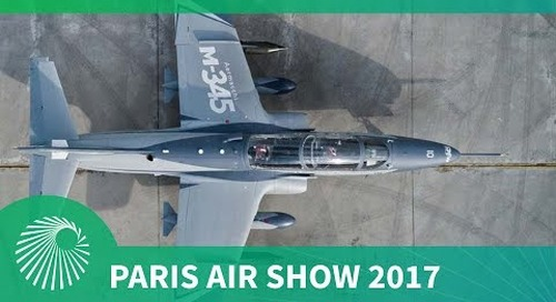 Paris Air Show 2017: Leonardo Aircraft M-345 trainer aircraft makes show debut