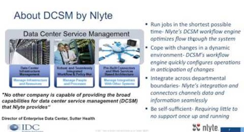 IDC: Transforming IT Delivery Through Better Data Center Service Management - Webinar Recording