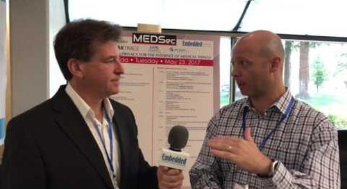 Rich Nass talks with David Kleidermacher at MEDSec 2017