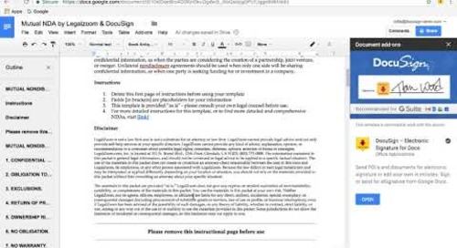 LegalZoom Google Docs Template Walkthrough