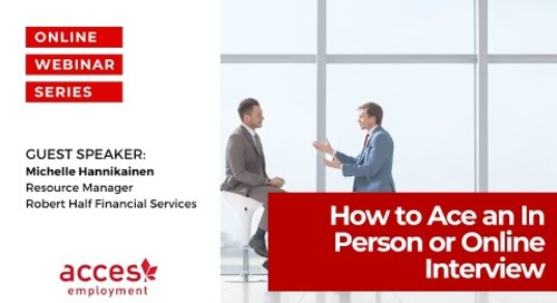 How to Ace an In Person or Online Job Interview