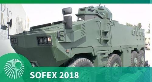 SOFEX 2018: KADDB Al Mared 8x8 - The largest AFV built in Jordan