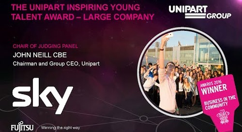 The Unipart Inspiring Young Talent Award - Sky - Judges Comments