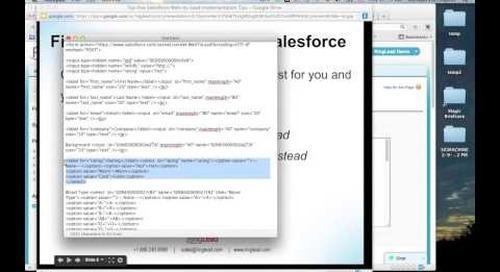 Top Five Salesforce Web-to-Lead Implementation Tips Webinar