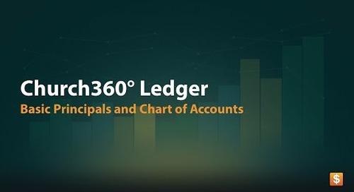 Church360° Ledger: Basic Principles & Chart of Accounts