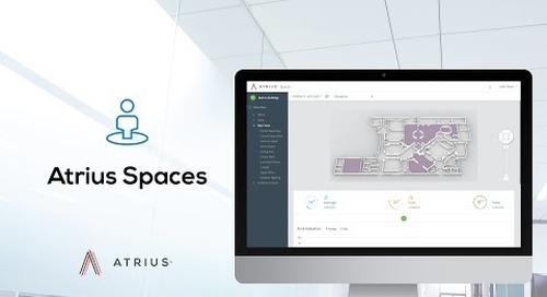 Atrius Spaces Platform Service - IoT Space Utilization Application and API