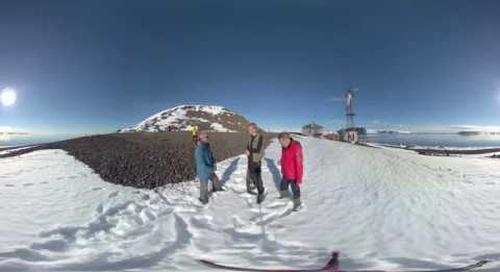 North Pole: Russian Arctic National Park Rangers talk (360° VR)