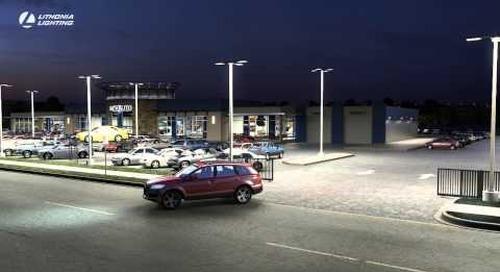 D Series LED Area Size 2 Illuminates Automotive Dealership