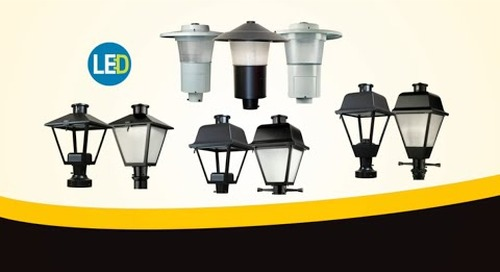 AEL's Post Top LED Luminaire Collection