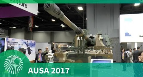 AUSA 2017: K9 Thunder Self-propelled howitzer - Hanwha Techwin