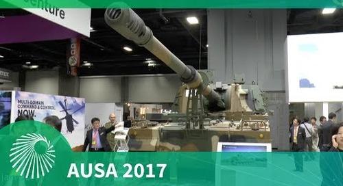 AUSA 2017: K9 Thunder Self-propelled howitzer - Hanwha Techwin