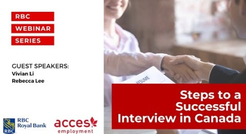 Webinar with RBC Royal Bank: Steps to a Successful Interview in Canada