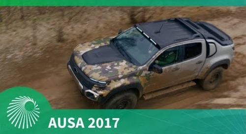 AUSA 2017: GM's ZH2 Fuel Cell vehicle
