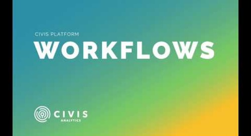 Workflows in Civis Platform