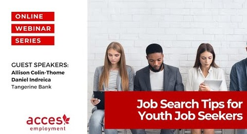 Learn from Tangerine Recruiters! Job Search Tips for Youth