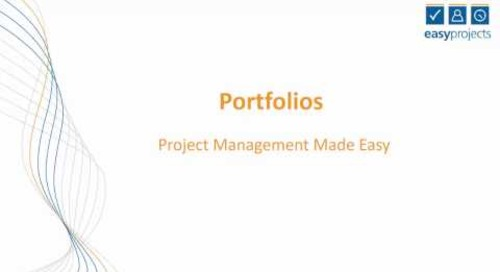 Easy Projects Tutorial  - Project Portfolios