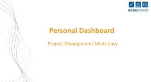 Easy Projects Tutorial - Dashboard