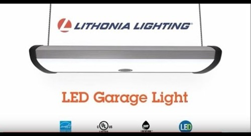 Super LED Garage Light with Motion Sensor from Lithonia Lighting