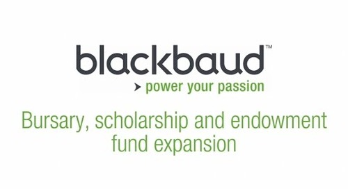 Education Institutions: bursary, scholarship and endowment fund expansion